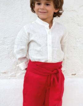 381b90131 Traje niño arras en lino 311599. Crudo-rojo (Tallas 1-12 Años)