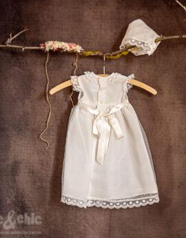 612213a27 Vestido con capota tul bodoques 34428-R (6-24 meses) - chic&chic