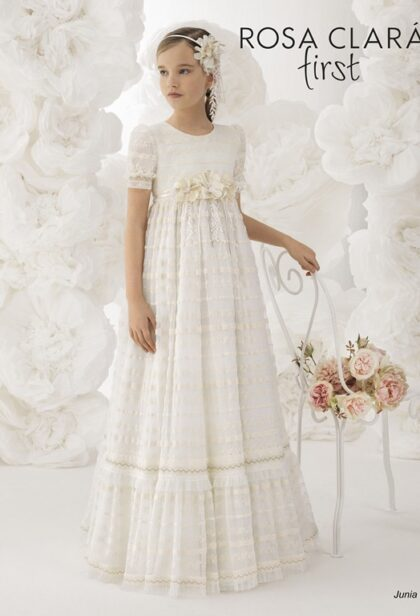 venta vestidos comunion rosa clara