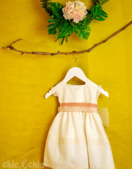 d21989313 Vestido 755 organza (6-24 meses). Crudo-Rosa