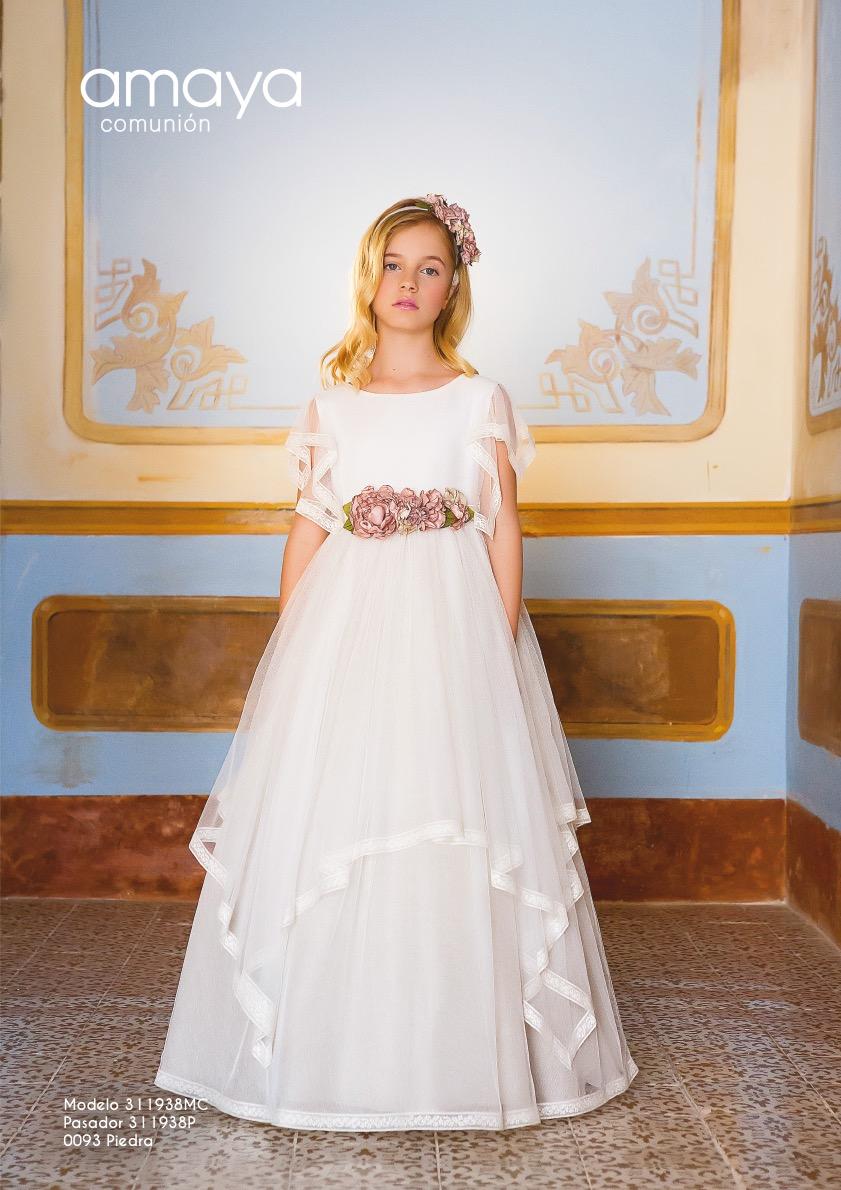 2ef62f456 Vestido de comunión 311938MC Amaya. Color Crudo - chic&chic