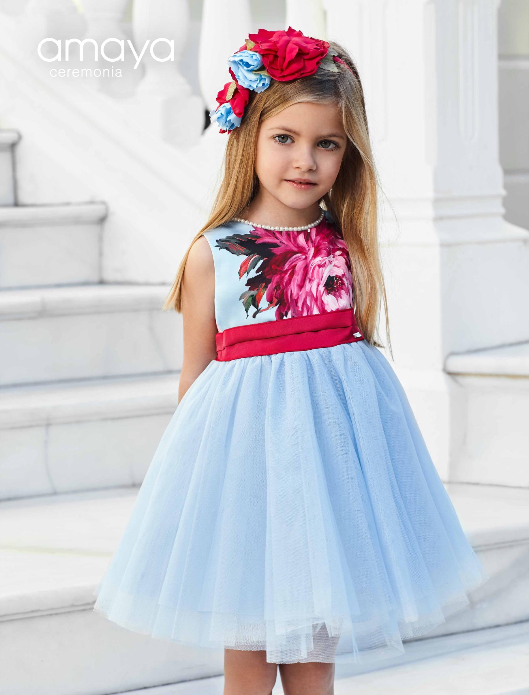 4d828f0f2 Vestido 311429 Color Azul (1-12 Años) - chic chic