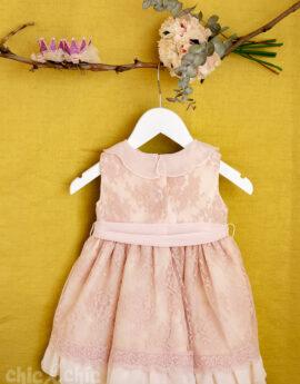 e49ccb276 Vestido bebe 3441900 en tul bordado rosa (6m-24m)