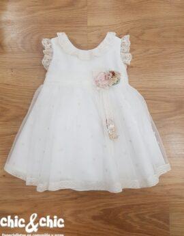 efcecd6cf Vestido de ceremonia 311207 bebe tul bodoques (6m-24m).