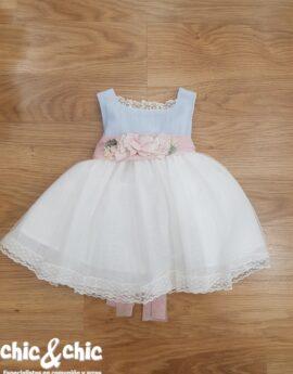 Vestido de ceremonia 311214 bebe lino y tul (6m-24m). 33663e7fabcf