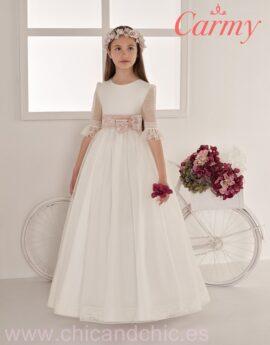 busca lo mejor múltiples colores colores delicados Colección de vestidos de comunión Carmy - Chic&chic