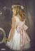 Vestido tul plumeti Alexa (1-14 Años). Blanco roto-rosa