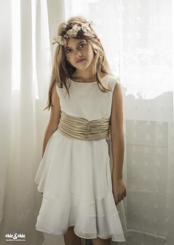 Vestido  Alba Beige (1-16 Años)