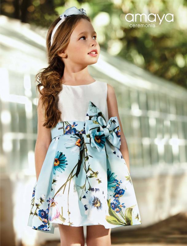 Vestido 31425 Color Azul (1-12 Años)