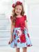 Vestido 311431 Color Azul y rojo (1-12 Años)