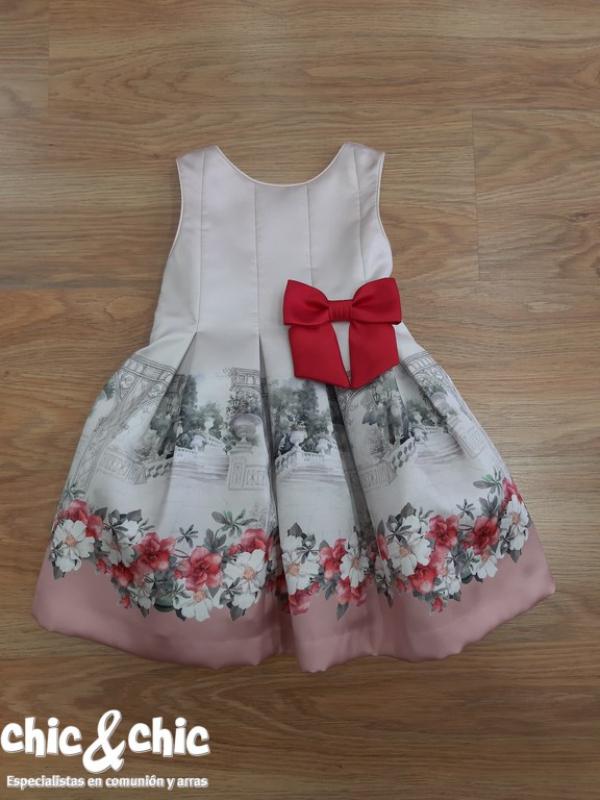 Vestido 3142600. Color rosa estampado (4-14 Años)