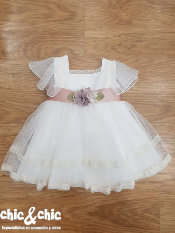 Vestido de ceremonia 311209 bebe tul (6m-24m).