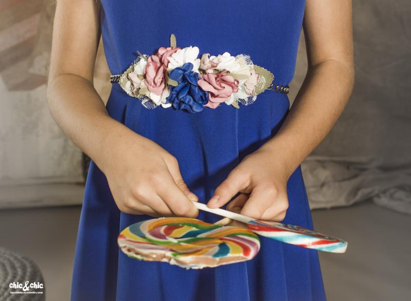 Cinturón flores 52.  Juego del vestido Aitana.