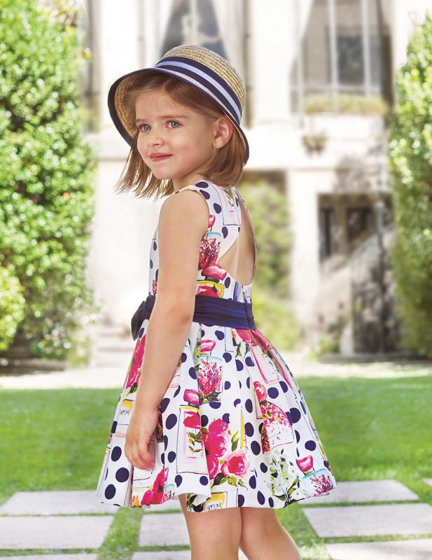Vestido 5049 (4-12 Años). Color Marino