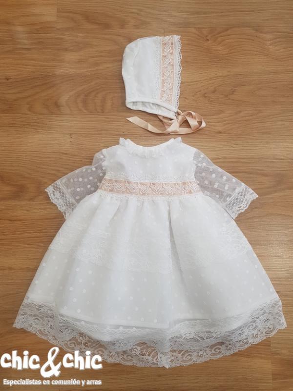 Vestido con capota tul bodoques 34428-C (6-24 meses)