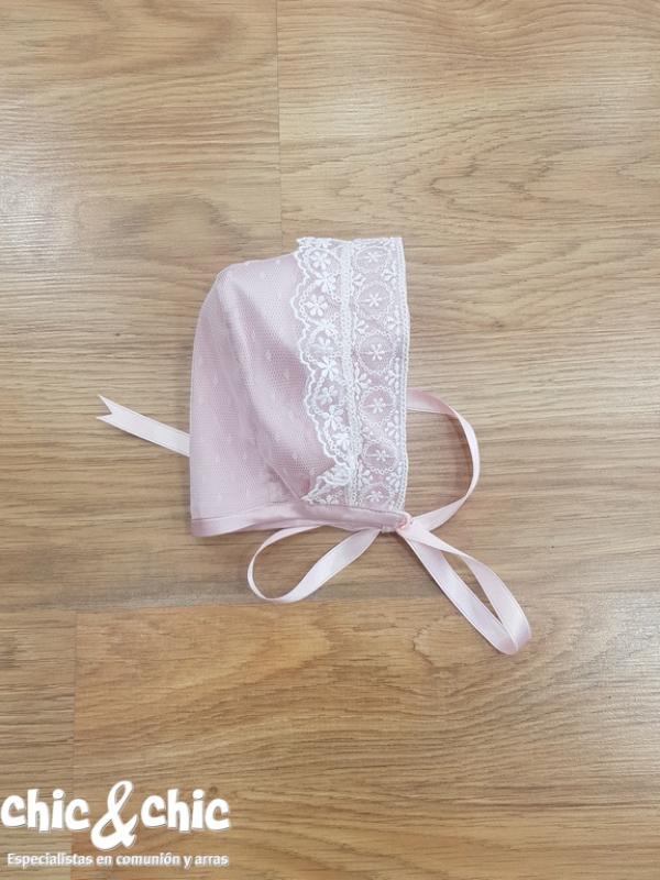 Capota tul plumeti alexa rosa.  (3m-24m)