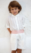 Conjunto de niño 311597 crudo-rosa. (Tallas 1-12 Años)