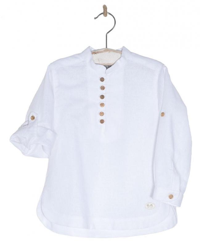 Camisa niño cuello mao 30188. Blanco