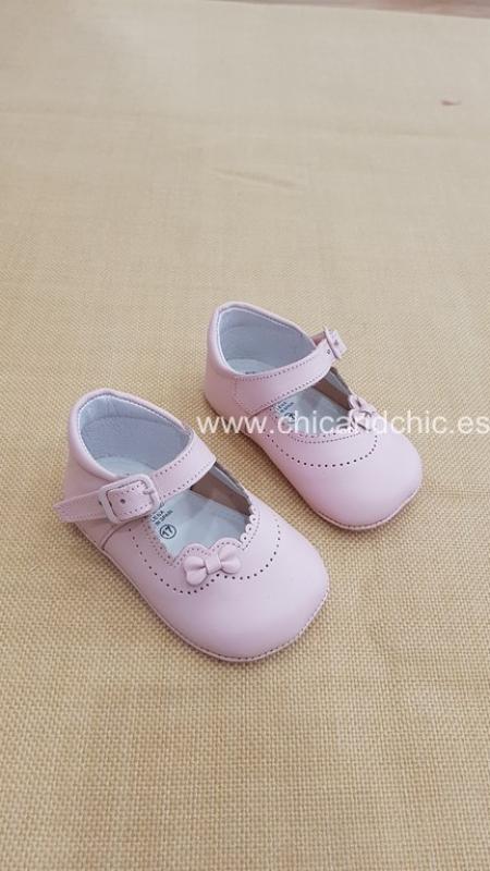 Zapato bebe piel rosa. Mod. 2259