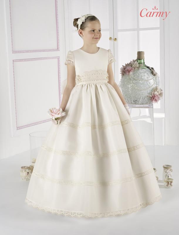 Vestido de comunión clásico esterilla 6310