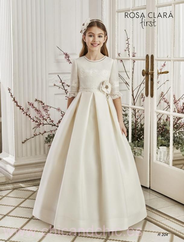 Vestido de comunión 204 Rosa Clará.