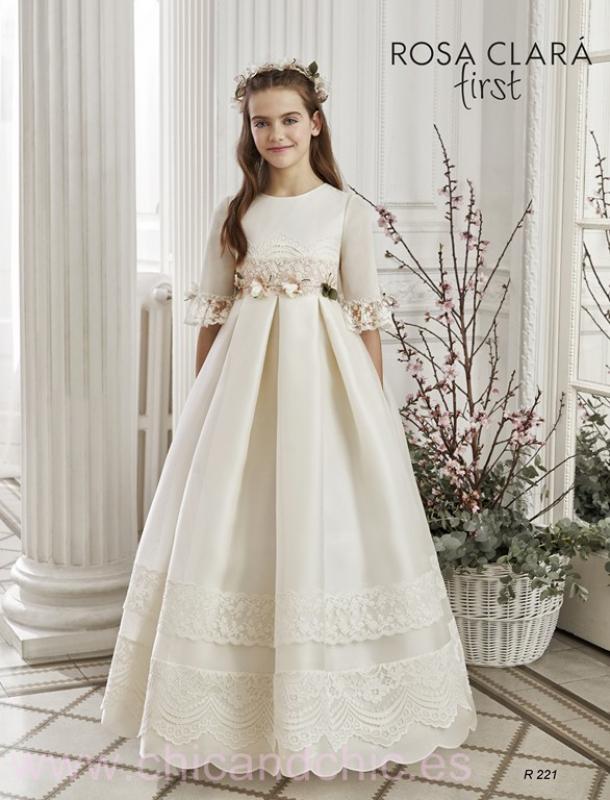 Vestido de comunión 221 Rosa Clará.