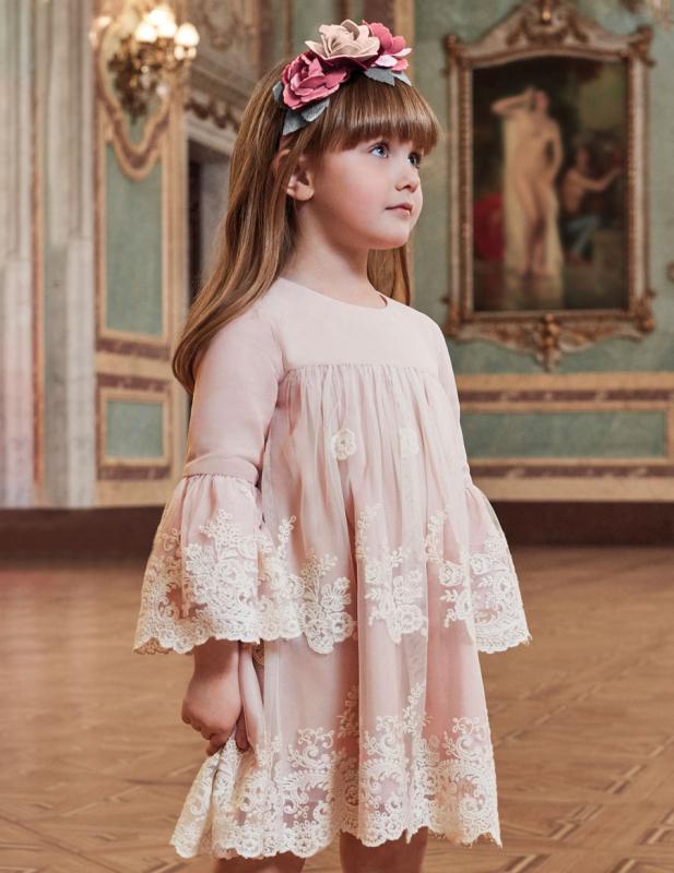 Vestido 5530 (4-12 Años). Color rosa