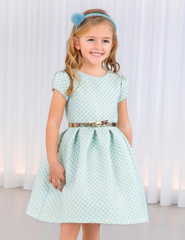 Vestido 5531 (4-12 Años). Color verde agua