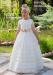 Vestido de comunión  206401. Color crudo-beige.
