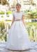 Vestido de comunión  206408 Color crudo-tostado.