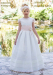 Vestido de comunión  206413 Color crudo-rosa. Última talla 120 (11)