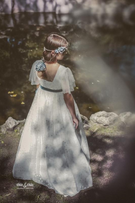 Vestido de comunión VENECIA. Color beige.