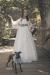 Vestido de comunión GRECIA. Blanco roto-azul.