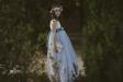 Vestido de comunión FATIMA. Blanco -azul.