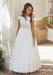 Vestido de comunión 517009MC Amaya. Color Crudo-tostado