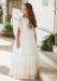 Vestido de comunión 517028MD. Color Crudo-Tostado.