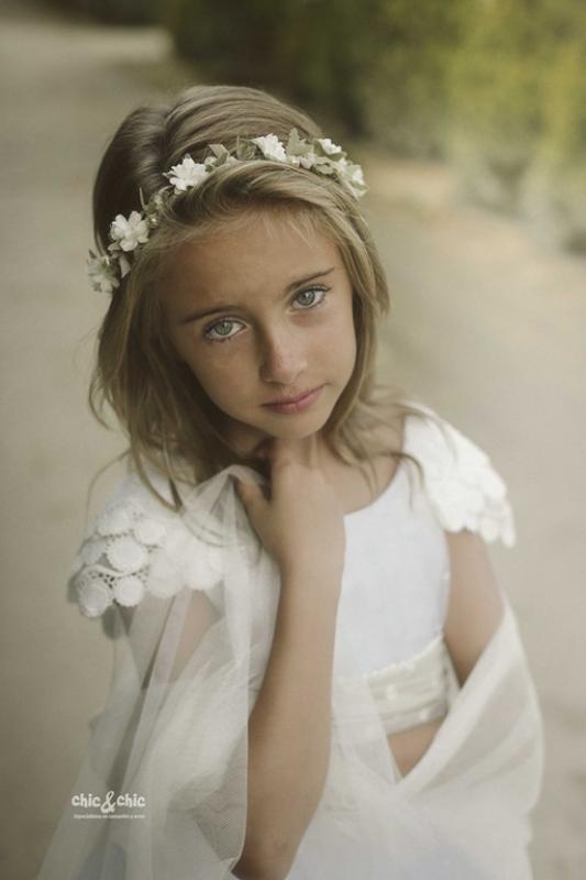 Corona flores del vestido  comunión HELENA