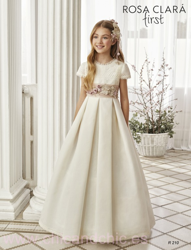 Vestido de comunión 210 Rosa Clará.
