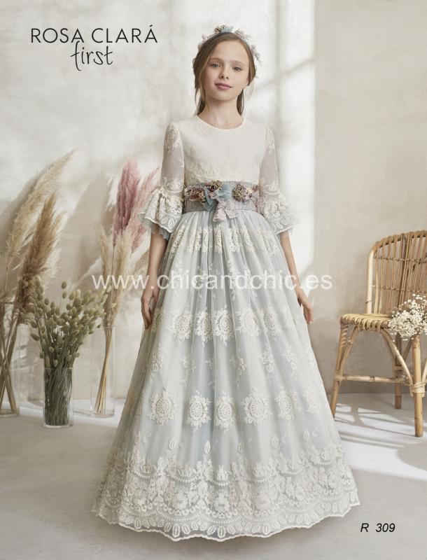 Vestido de comunión 309 Rosa Clará.