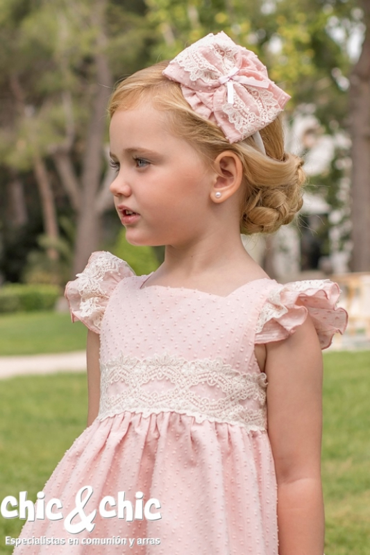 Vestido plumeti rosa
