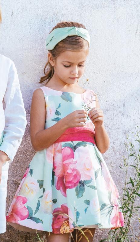 Vestido de ceremonia 513202SM. (1-12 Años) Estampado