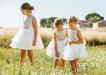 Vestido de ceremonia 513027SM. (1-12 Años) Crudo-tostado