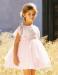Vestido de ceremonia 513025 MC. (1-12 Años) Crudo-salmón