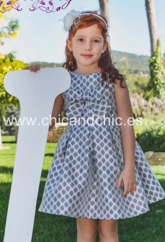 Vestido de ceremonia 51409. (2-12 Años) Azul
