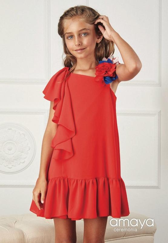 Vestido de ceremonia 514152M . Estampado (10-14 Años)