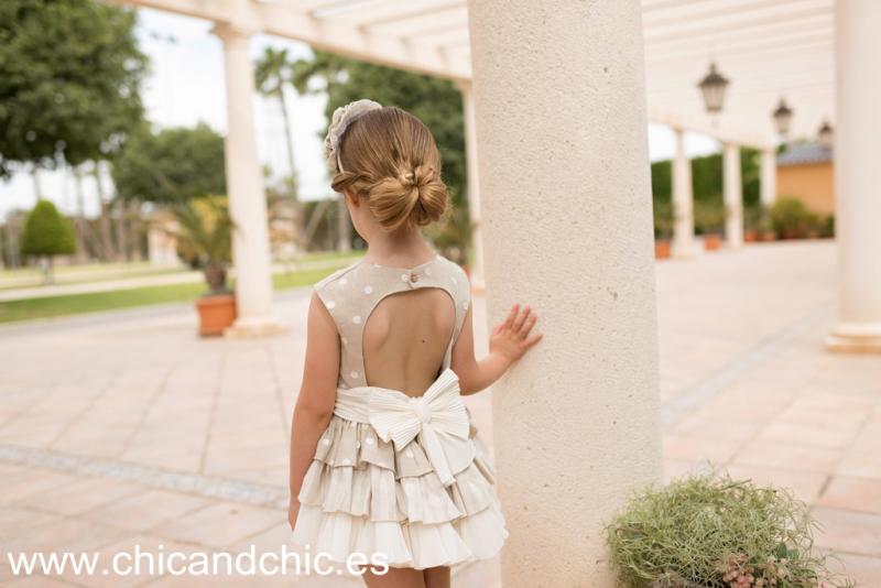 Vestidolino tostado. (8-12 Años)