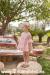 Vestido batista topos y tul rosa. (2-10 Años)