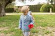 Americana de niño azul con coderas rayas. (4-10 años)