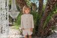 Americana de niño tostado con coderas rayas. (4-10 años)