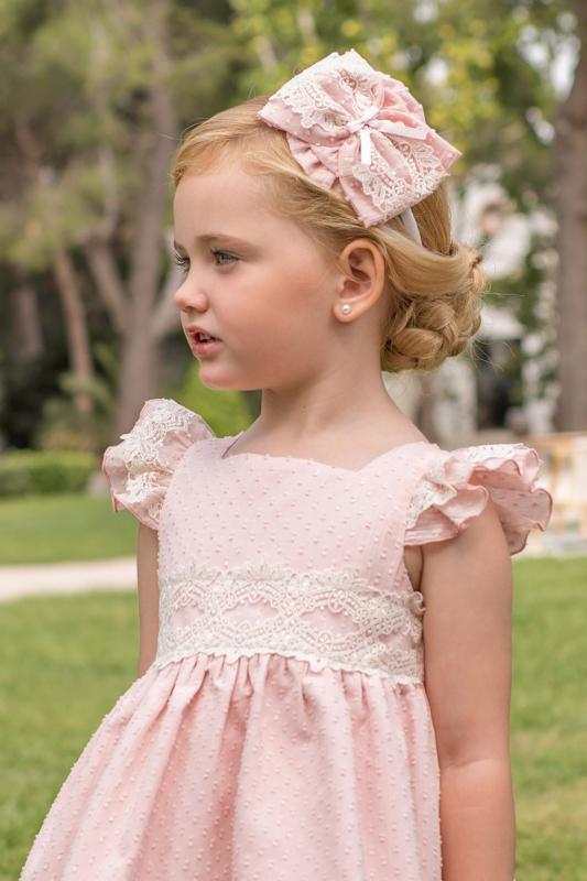 Vestido plumeti rosa. (2-12 Años)